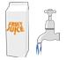 Juice Carton & Tap